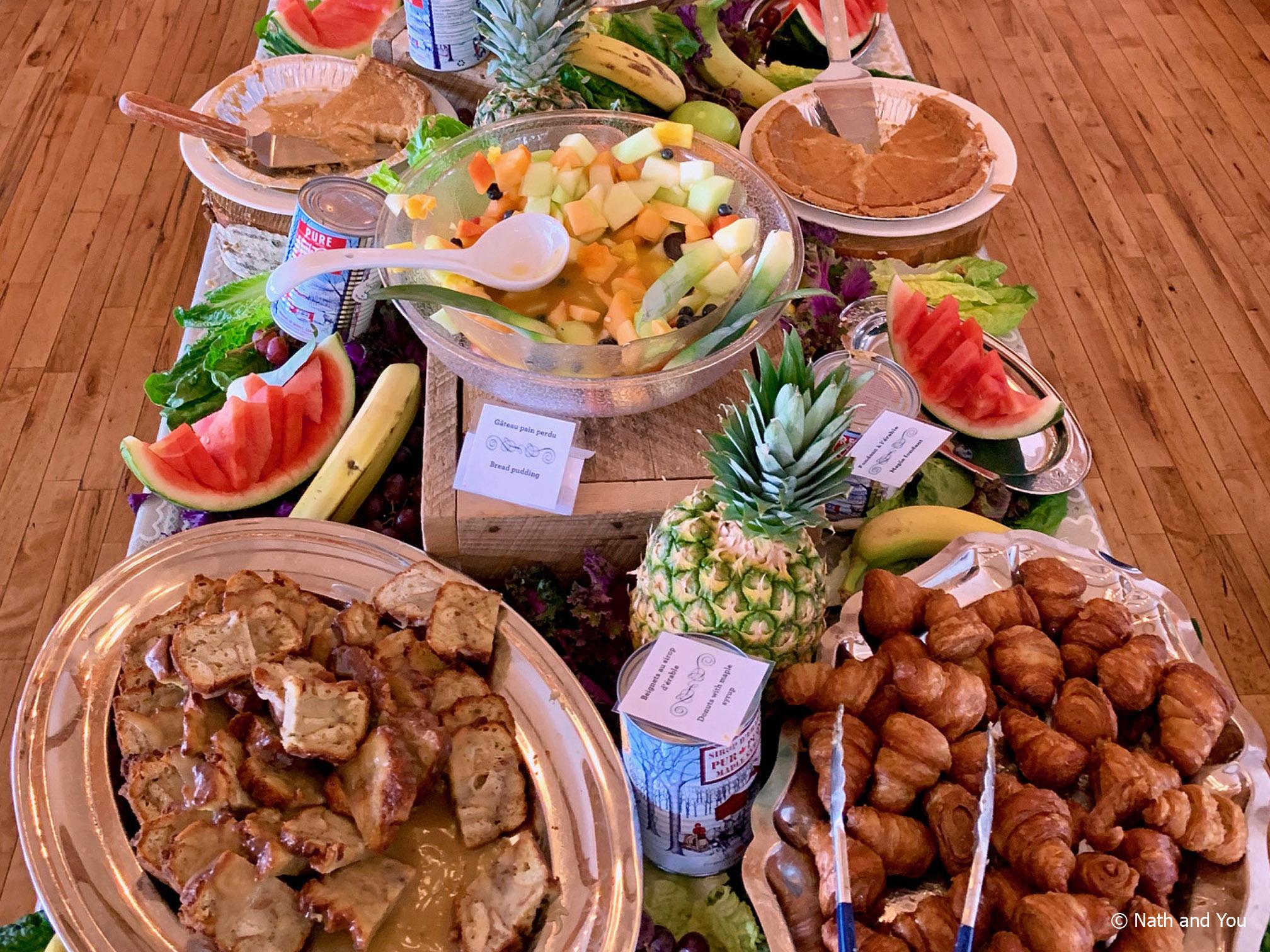 Buffet cabane à sucre Sucrerie des Gallant