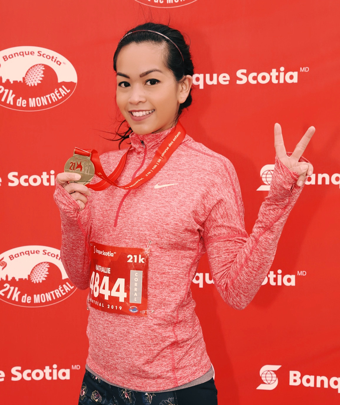 Demi-Marathon Banque Scotia 21K Montréal Nath and you